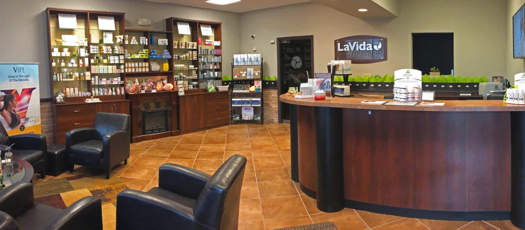 LaVida Massage of Smithtown, Lobby, Massage, Skincare, Hydrafacial, Photofacial, IPL, Hair Removal, Waxing, Ultrasonic, Microdermabrasion, Therapeutic Massage