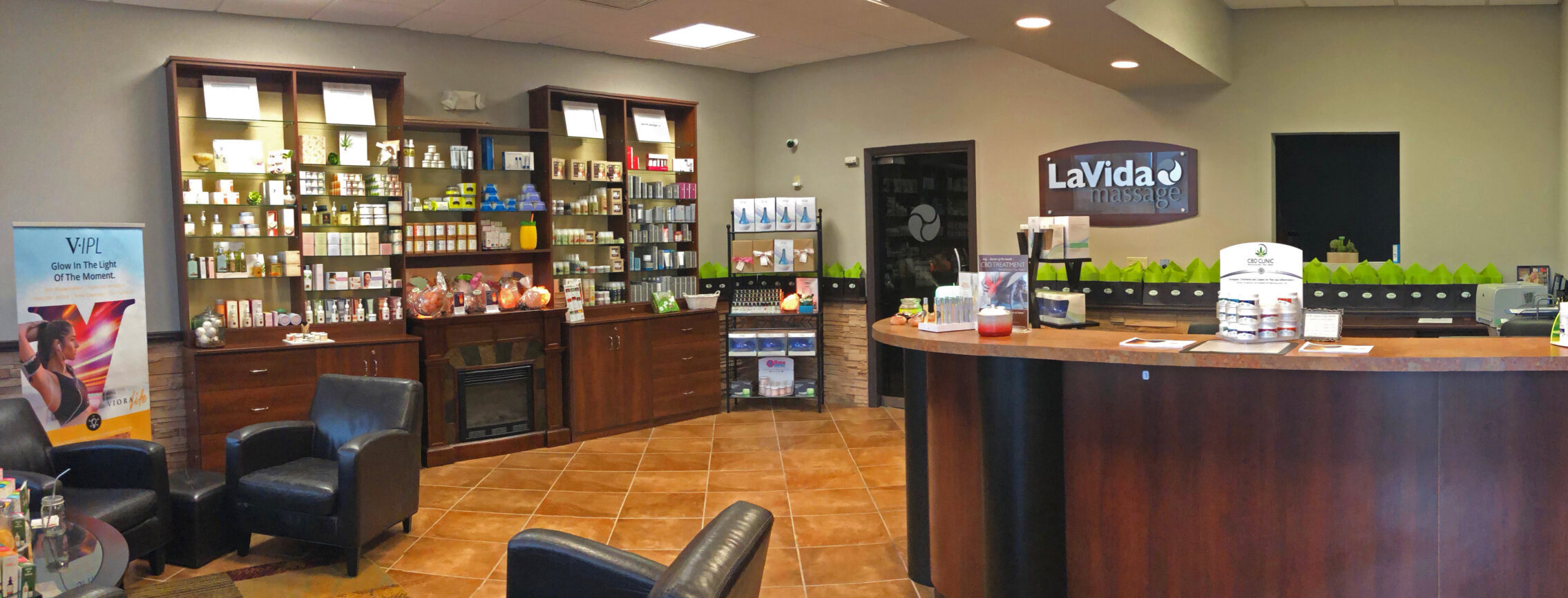 LaVida Massage of Smithtown, Lobby, Massage, Skincare, Hydrafacial, Photofacial, IPL, Hair Removal, Waxing, Ultrasonic, Microdermabrasion, Therapeutic Massage